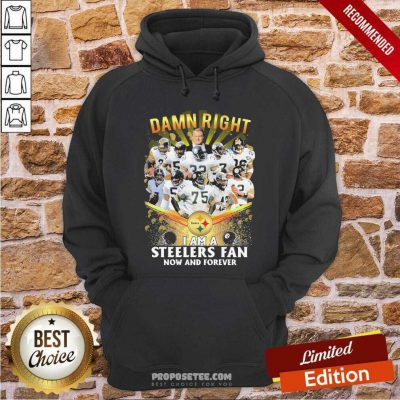 Damn Right I Am A Pittsburgh Steelers Fan Now And Forever Hoodie-Design By Proposetees.com