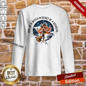 Redhead Girl Soul Of A Witch Heart Of A Redhead Sweatshirt-Design By Proposetees.com