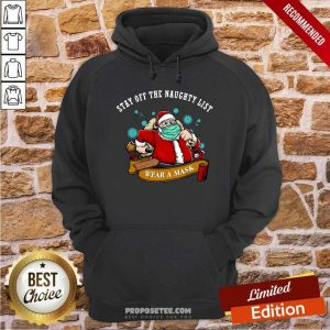 Santa Stay Off The Naughty List Christmas Hoodie-Design By Proposetees.com