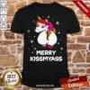 Unicorn Merry Kissmyass Ugly Christmas Shirt-Design By Proposetees.com