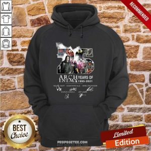 26 Years Of Arch Enemy 1995 2021 Signatures Hoodie-Design By Proposetees.com