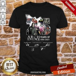 26 Years Of Arch Enemy 1995 2021 Signatures Shirt-Design By Proposetees.com