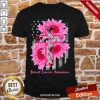 Cross Sunflower Breast Cancer Awareness Pink Veteran Shirt-Design By Proposetees.com