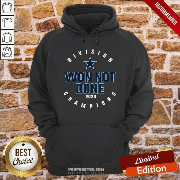 Dallas Cowboys Division Champions Won Not Done 2020 Hoodie-Design By Proposetees.com