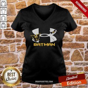 Nder Armour Batman V-neck-Design By Proposetees.com