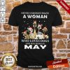Never Underestimate A Woman Who Loves Dogs And Was Born In May Christmas Shirt-Design By Proposetees.com
