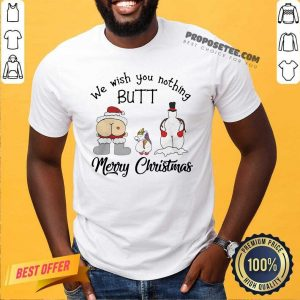 Unicorn We Wish You Nothing Butt Merry Christmas Shirt-Design By Proposetees.com