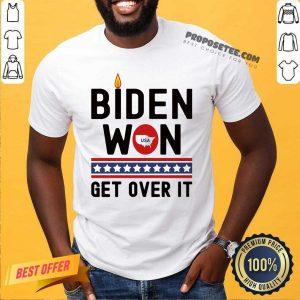 Biden Won Get Over It Map Usa Fire Stars Election Shirt-Design By Proposetees.com