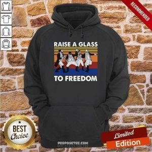 Hamilton Raise A Glass To Freedom Vintage Hoodie-Design By Proposetees.com