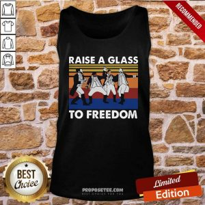 Hamilton Raise A Glass To Freedom Vintage Tank Top-DESIGN BY PROPOSETEES.COM