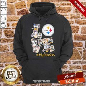 Love Pittsburgh Steelers #Mysteelers Signatures Hoodie-Design By Proposetees.com