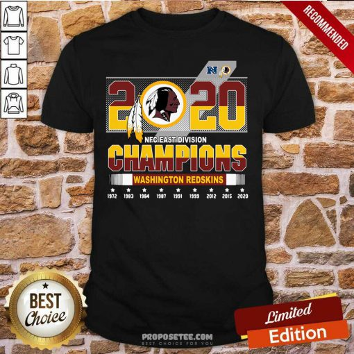 2020 NFC East Division Champions Washington Redskins Shirt