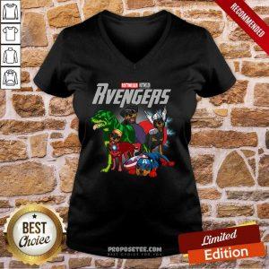 Marvel Avengers Rottweiler Rvengers V-neck