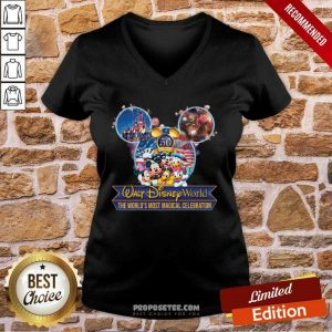 Mickey Mouse Walt Disney World The World's Most Magical Celebration V-neck