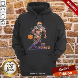 Funny Players Go Clemson Tigers Football Signatures Hoodie - Design by proposetees.com
