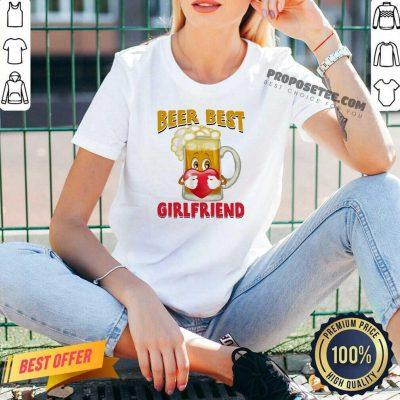 Beer Best Girlfriends Heart V-neck