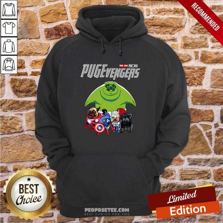 Pug dog Marvel Avengers Pugevengers Hoodie