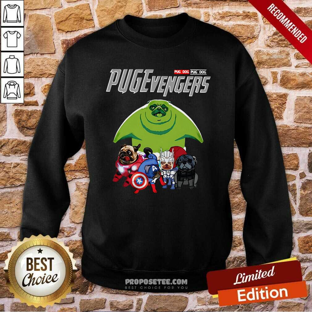 Pug dog Marvel Avengers Pugevengers Sweatshirt