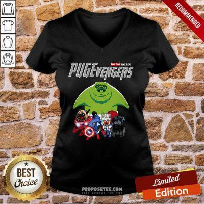 Pug dog Marvel Avengers Pugevengers V-neck