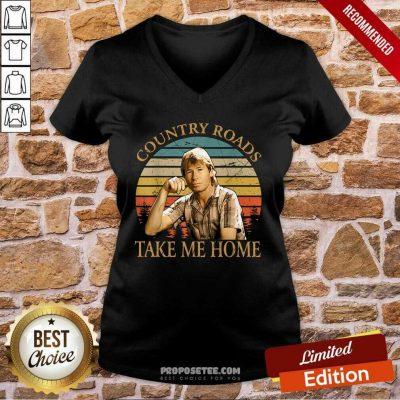 Country Roads Take Me Home Vintage V-neck