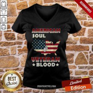 American Flag Soul Veteran Blood V-neck
