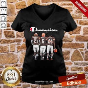 Cleveland Browns Ward Mayfield And Chubb Champion V-neck