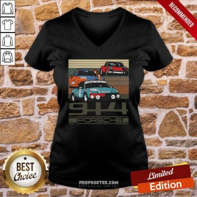 914 Porsche Vintage V-neck