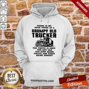 There Is No Such Thing As A Grumpy Old Trucker The Truth Is Once You Get Old You Stop Being Polite And Start Being Honest Hoodie