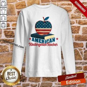 Apple And Book American Kindergarten Teacher Sweatshirt