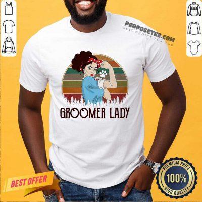 Girl Strong Groomer Lady Vintage Shirt