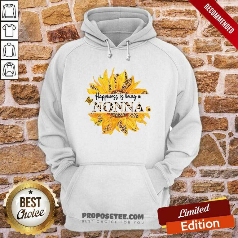 Sunflower Leopard Happiness Is Being A Nonna Hoodie