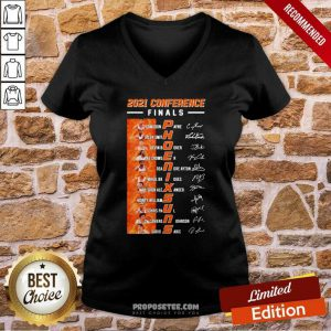 2021 Conference Finals Phoenix Suns Players Signature Basketball V-neck