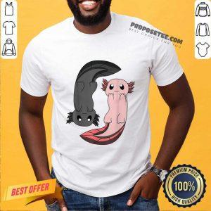 Axolotl Yin Yang Reptile Gift Idea Shirt