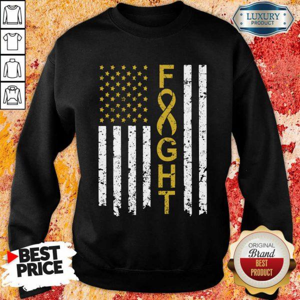 Childhood Cancer Awareness American Flag Sweatshirt