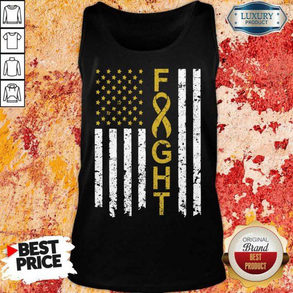 Childhood Cancer Awareness American Flag Tank Top