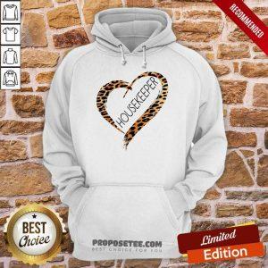 Heart Frame Leopard Medical Stethoscope Housekeeper Hoodie
