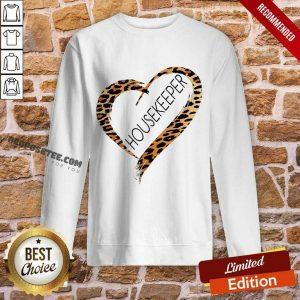 Heart Frame Leopard Medical Stethoscope Housekeeper Sweatshirt