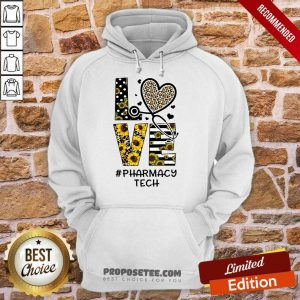 Leopard Sunflower Love Nurse Life Pharmacy Tech Hoodie
