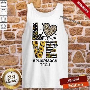 Leopard Sunflower Love Nurse Life Pharmacy Tech Tank Top