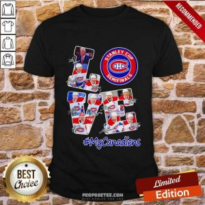 Love Stanley Cup Semifinals My Canadiens Signature Shirt