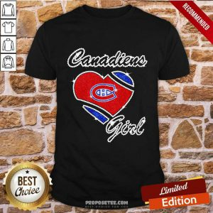 Montreal Canadiens Girl Diamond Heart Shirt