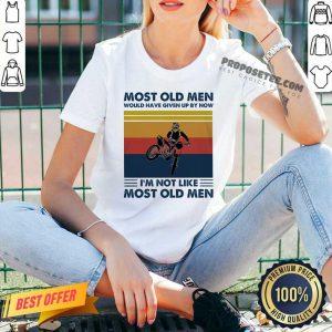 Motocross Most Old Men Would Have Given Up By Now I'm Not Like Most Old Men Vintage V-neck
