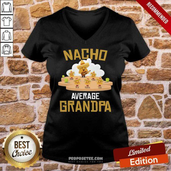 Nacho Average Grandpa V-neck