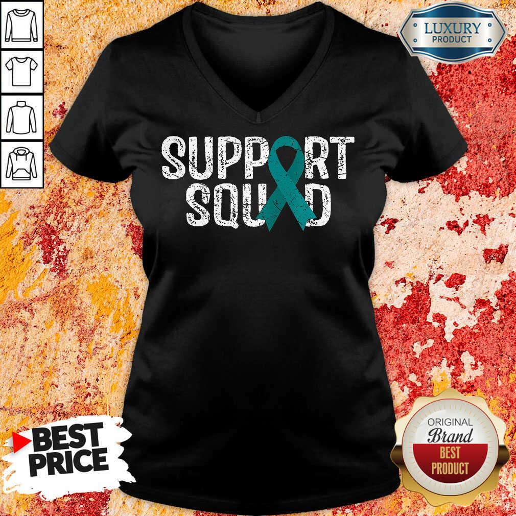 Support Squad Ovarian Cancer Awareness V-neck