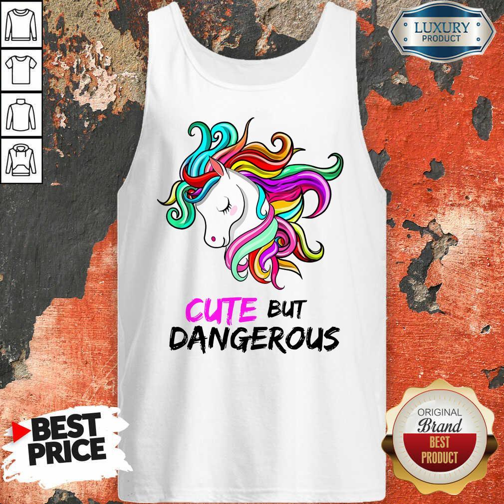 Unicorn Cute But Dangerous Tank Top