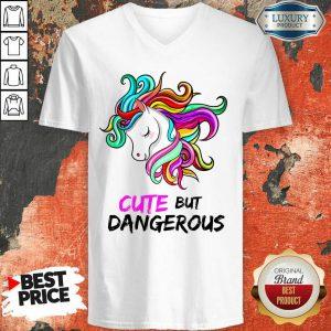 Unicorn Cute But Dangerous V-neck